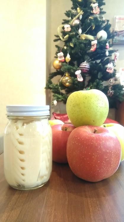 タケノコとりんご