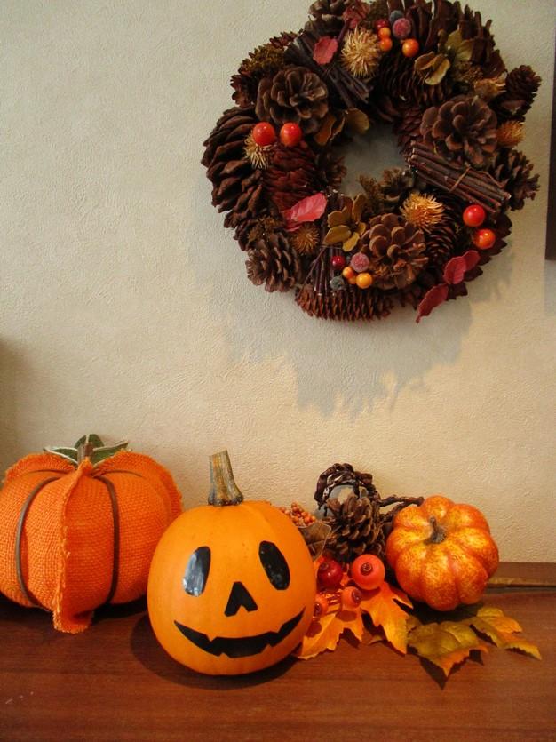 飾りかぼちゃのジャックオーランタン