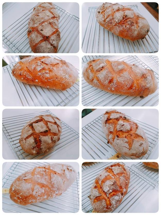 クルミとオレンジのカンパーニュ